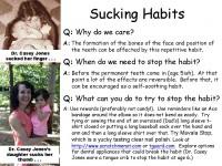 Sucking Habits