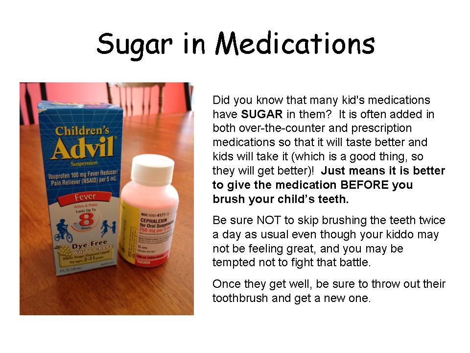 Sugar in Medications